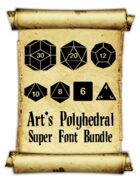 Art's Polyhedral Dice Super Font Bundle