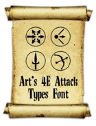 Art's 4E Attack Types Font