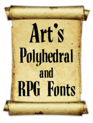 Polyhedral and RPG Fonts