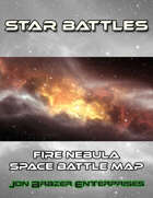 Star Battles: Fire Nebula Space Battle Map (VTT)