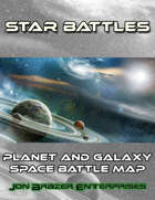 Star Battles: Planet and Galaxy Space Battle Map (VTT)