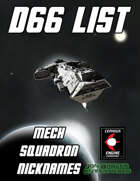 d66 Mech Squadron Nicknames