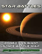Star Battles: Ringed Gas Giant Space Battle Map (VTT)