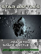 Star Battles: Planetoid Space Battle Map (VTT)