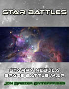 Star Battles: Starry Nebula Space Battle Map (VTT)