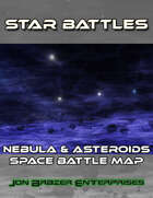 Star Battles: Nebula & Asteroids Space Battle Map (VTT)
