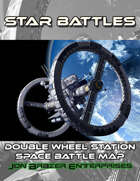 Star Battles: Double Wheel Station Space Battle Map (VTT)