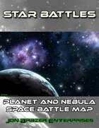 Star Battles: Planet and Nebula Space Battle Map (VTT)