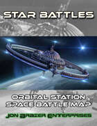 Star Battles: Orbital Station Space Battle Map (VTT)