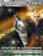 Star Battles: Station in Asteroids Space Battle Map (VTT)