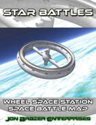 Star Battles: Wheel Station Space Battle Map (VTT)