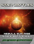 Star Battles: Nebula Sun Rise Space Battle Map (VTT)