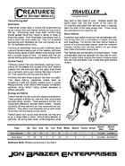 Creatures of Distant Worlds - Tarhhuf Riding Wolf