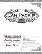 Clan Pack #1: The Outsiders (for The Ninja Crusade 2nd Ed)