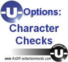 -U- Options: Character Checks