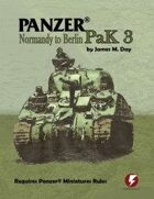Panzer® Miniatures Rules USA Data Cards