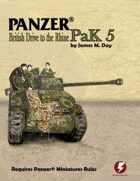 Panzer® Miniatures Rules British Data Cards