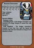 [Brushfire] Badger Grenadier