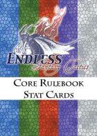 Endless: Fantasy Tactics - Stat Cards - Core Rulebook