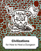 Civilization Cards for How to Host a Dungeon