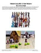 Palladium Fantasy RPG® Paper Miniatures #5: O.C.C.s Female