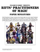 Rifts® Paper Miniatures: Practitioners of Magic