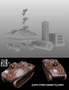 Earth Force Combat Flatbed for 3d printing (STL)