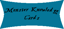 Monster Knowledge Cards