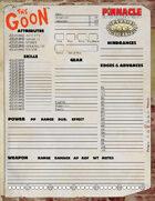 Goon: Character Sheet