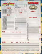 The Savage World of Flash Gordon: Character Sheet