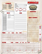 Savage Worlds Adventure Edition: Character Sheet
