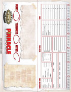 Savage Worlds Adventure Ed Table Tent Character Sheet