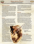 Sunwarped Peaks: A Fantasy One Sheet for Savage Worlds