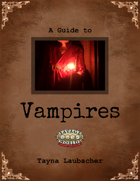 A Guide to Vampires (Savage Worlds)
