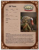 Ol' Tom - One Sheet for Savage Worlds