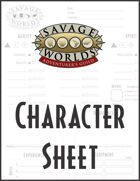 Savage Worlds Character Sheet (streamlined)