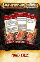 Pathfinder® for Savage Worlds Power Cards