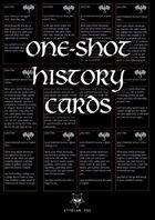 One-Shot History Cards (Fantasy)