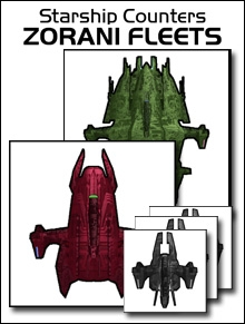 Starship Counters - Zorani Fleets