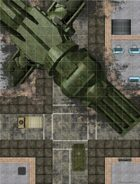 Battlemaps: City Streets - Alien Ship Crash Site