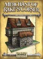 Merchant of Rake's Corner Paper Model