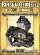 Ruined Church Paper Model