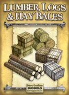 Lumber, Logs & Hay Bales Paper Models