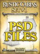 Rustic Cabins Set #1 PSD Files