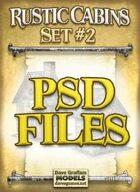 Rustic Cabins Set #2 PSD Files