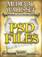 Medieval Walls Set PSD Files