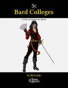 Bard Colleges, A Folio of Options for Bards (5e)