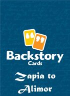 Backstory Cards Setting Grid: Zapia to Alimor
