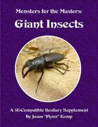 Monsters for the Masters: Great Insects