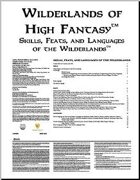 Skills, Feats, and Languages of the Wilderlands